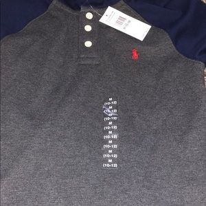 Polo button up hoodie